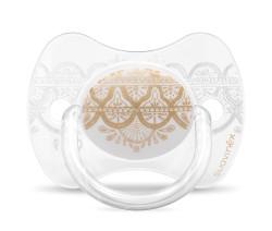 Suavinex - Suavinex Couture Fizyolojik Silikon Emzik (0-4 AY) Mavi Beyaz