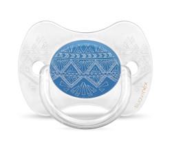 Suavinex - Suavinex Couture Fizyolojik Silikon Emzik (0-4 AY) Mavi