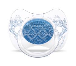 Suavinex - Suavinex Couture Fizyolojik Silikon Emzik (4-18 ay) Mavi