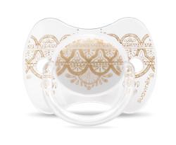 Suavinex - Suavinex Couture Fizyolojik Silikon Emzik (4-18 ay) Beyaz