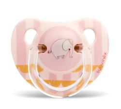 Suavinex - Suavinex Kauçuk Ortodontik Emzik ( 0-6 ay) Le Cirque (Pembe)