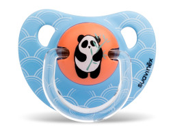 Suavinex - Suavinex Ortodontik Silikon Emzik ( 6 - 18 ay) Tekli Panda (Mavi)