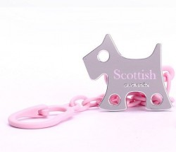 Suavinex - Suavinex Scottish Jewel Emzik Zinciri Rose et Blue - Köpek Pembe