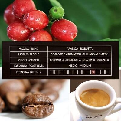 Gimoka Cremoso Kapsül Kahve 10 X 2 Yoğunluk : 10 (Nespresso® makineleri ile uyumlu)