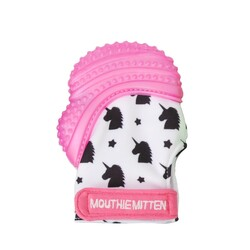 Mouthie Mitten - Mouthie Mitten Diş Kaşıyıcı Eldiven Pembe Atlı