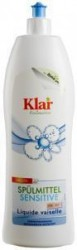 Klar - Klar Organik Elde Bulaşık Yıkama Sıvısı - Kokusuz 1lt