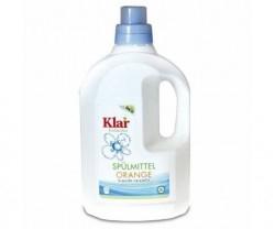 Organik Klar Elde Bulaşık Yıkama Sıvısı - Portakal Kokulu 1,5 lt.