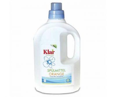 Klar Organik Elde Bulaşık Yıkama Sıvısı - Portakal Kokulu 1,5 lt.