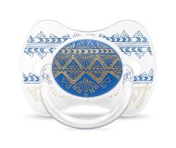 Suavinex - Suavinex Couture Fizyolojik Silikon Emzik (18 ay +) Mavi