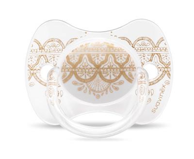 Suavinex Couture Fizyolojik Silikon Emzik (4-18 ay) Beyaz