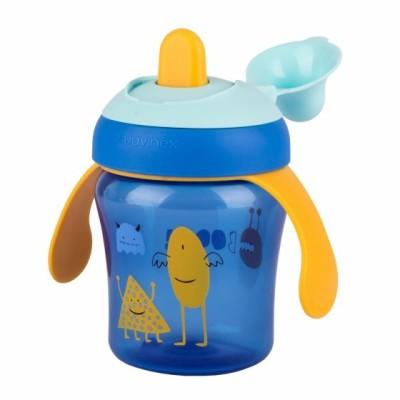 Suavinex Damla Akıtmaz Eğitim Bardağı Booo - 200 ml ( 6+ ay ) Mavi