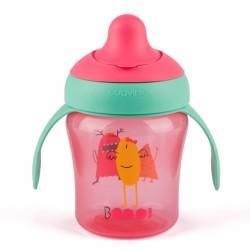 Suavinex - Suavinex Damla Akıtmaz Eğitim Bardağı Booo - 200 ml ( 6+ ay ) Pembe