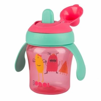 Suavinex Damla Akıtmaz Eğitim Bardağı Booo - 200 ml ( 6+ ay ) Pembe
