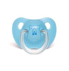Suavinex - Suavinex Evolution Silikon Ortodontik Emzik (0-6 ay) Bear Mavi