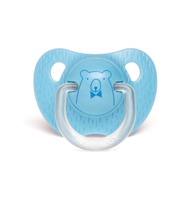 Suavinex Evolution Silikon Ortodontik Emzik (0-6 ay) Bear Mavi
