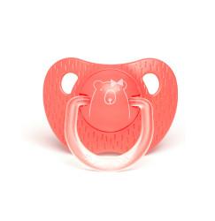 Suavinex - Suavinex Evolution Silikon Ortodontik Emzik (+18 ay) Bear Pembe