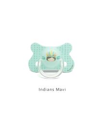 Suavinex - Suavinex Fusion Fizyolojik Silikon Emzik ( 4-18 ay) Indians Mavi