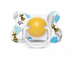 Suavinex - Suavinex Fusion Ortodontik Silikon Emzik ( 4-18 ay) Butterfly Sarı