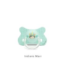 Suavinex - Suavinex Fusion Ortodontik Silikon Emzik ( 4-18 ay) Indians Mavi