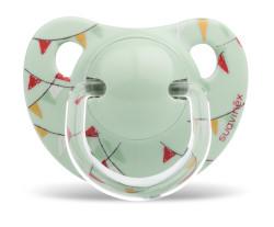 Suavinex - Suavinex Kauçuk Ortodontik Emzik ( 0-6 ay) Le Cirque (Yeşil)