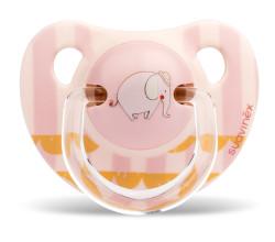 Suavinex - Suavinex Silikon Ortodontik Emzik ( 0-6 ay) Le Cirque (Pembe)