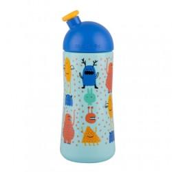 Suavinex - Suavinex Sport Cup Suluk Booo - Bastır Çek Ağızlıklı 360 ml (18+ ay) Mavi