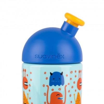 Suavinex Sport Cup Suluk Booo - Bastır Çek Ağızlıklı 360 ml (18+ ay) Mavi