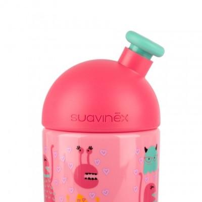 Suavinex Sport Cup Suluk Booo - Bastır Çek Ağızlıklı 360 ml (18+ ay) Pembe